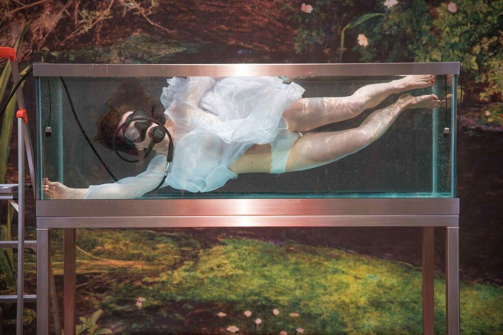 Mit OPHELIA im Glassarkophag unserer Zeit – Performancekunst zwischen (selbst)zerstörerischer Subjektivität und fragiler Natur